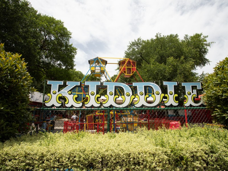 The Kiddie Park signage on Broadway Street. Photos taken on April 11, 2019.
