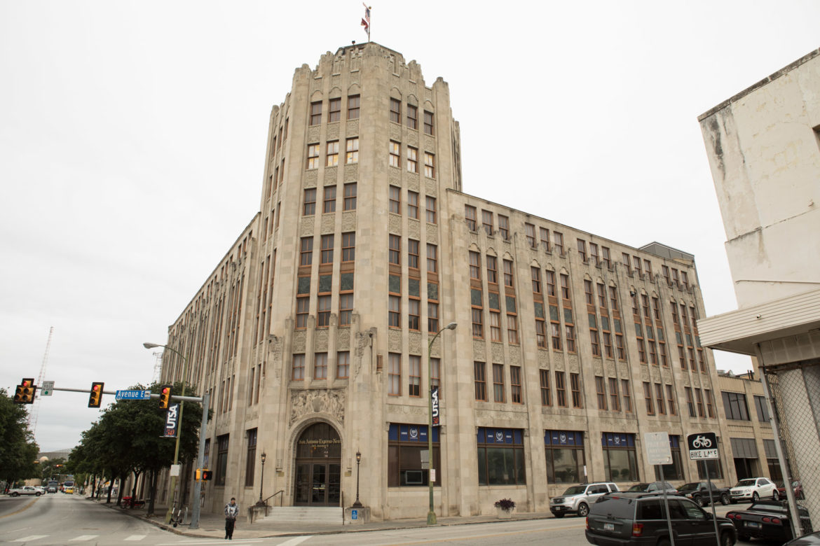 The San Antonio Express-News building has been put up for sale.