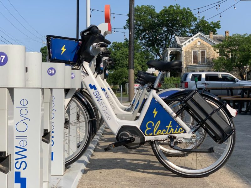 Existing Swell Cycle stations now have the ability to dock the new E-bikes throughout San Antonio.