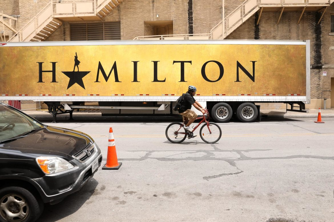 Hamilton runs at the Majestic Theatre from May 7th to May 26th.