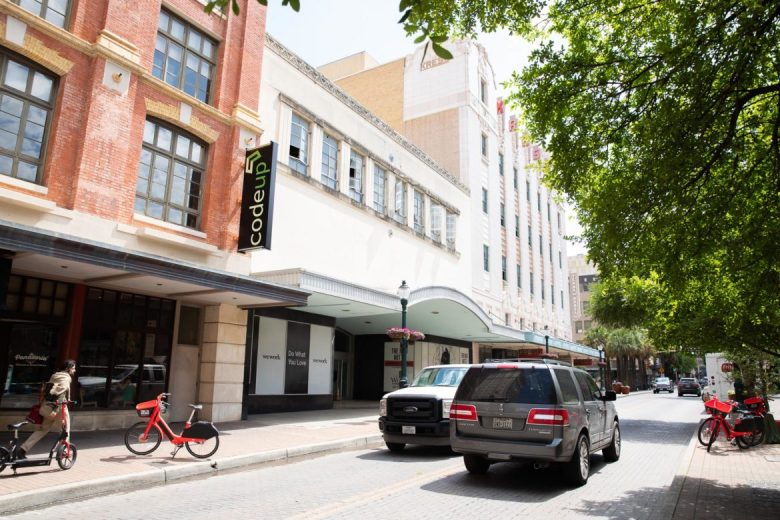 The WeWork lease agreement includes the former Children's Museum and the Kress buildings on Houston Street.