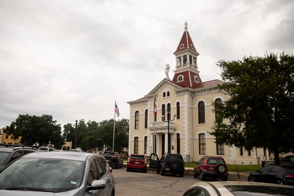 The Wilson County Courthouse in Floresville.