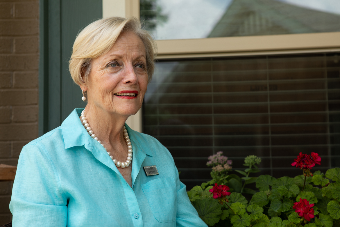 Connie Wyckoff is a resident of Blue Skies and helped establish The 11th Hour, a program of volunteers who sit with people who are in the last stages of dying so they won't be alone.