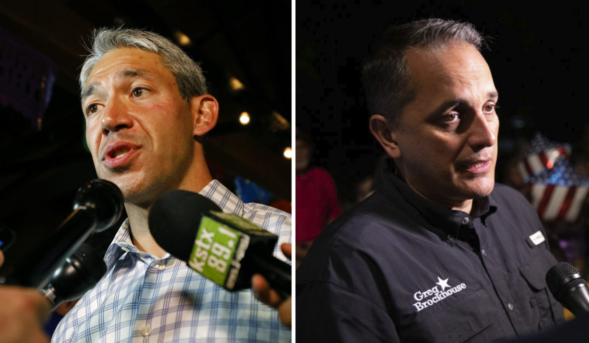 Mayor Ron Nirenberg (left) and opponent Councilman Greg Brockhouse will compete in a runoff election. (Photo by Edward A. Ornelas for the Rivard Report)