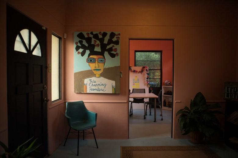 The office of Burnt Nopal, Cruz Ortiz's studio.