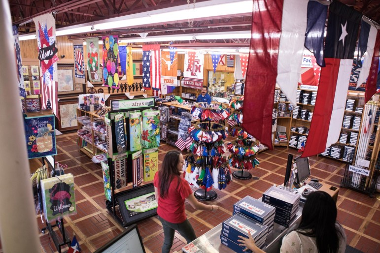 The store front of Dixie Flag & Banner Company.