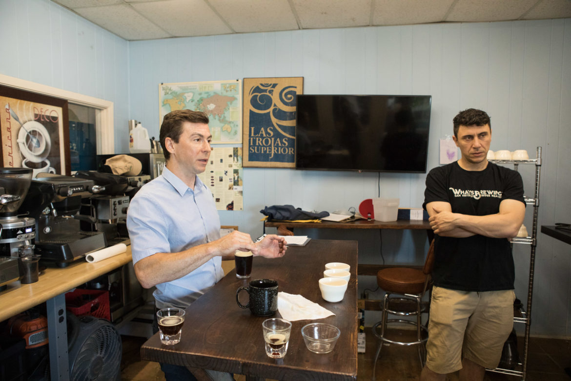 (From left) What's Brewing Coffee Roasters co-owners Toby and Sami Chbeir