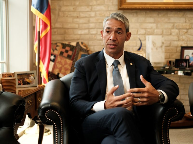 Ron Nirenberg meets with Senior Reporter Iris Dimmick in his office just days after winning his reelection bid as Mayor.