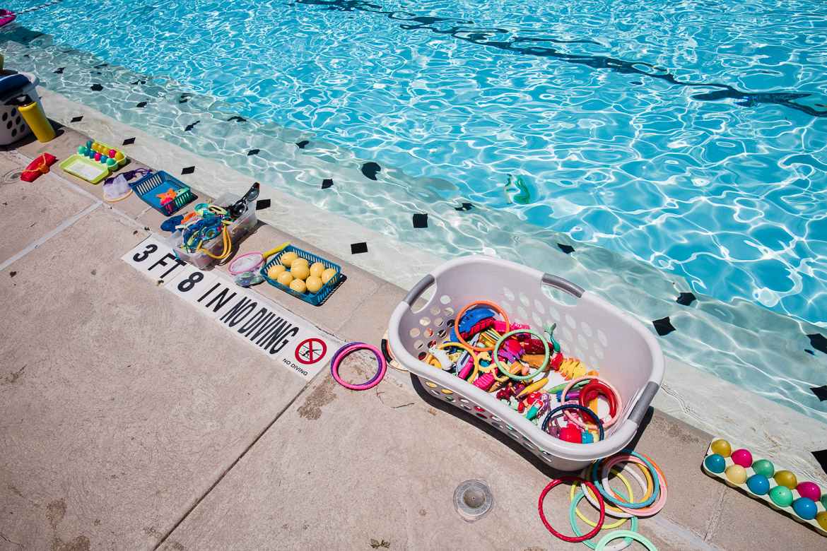 Kids toys at the Alamo Heights Swimming Pool