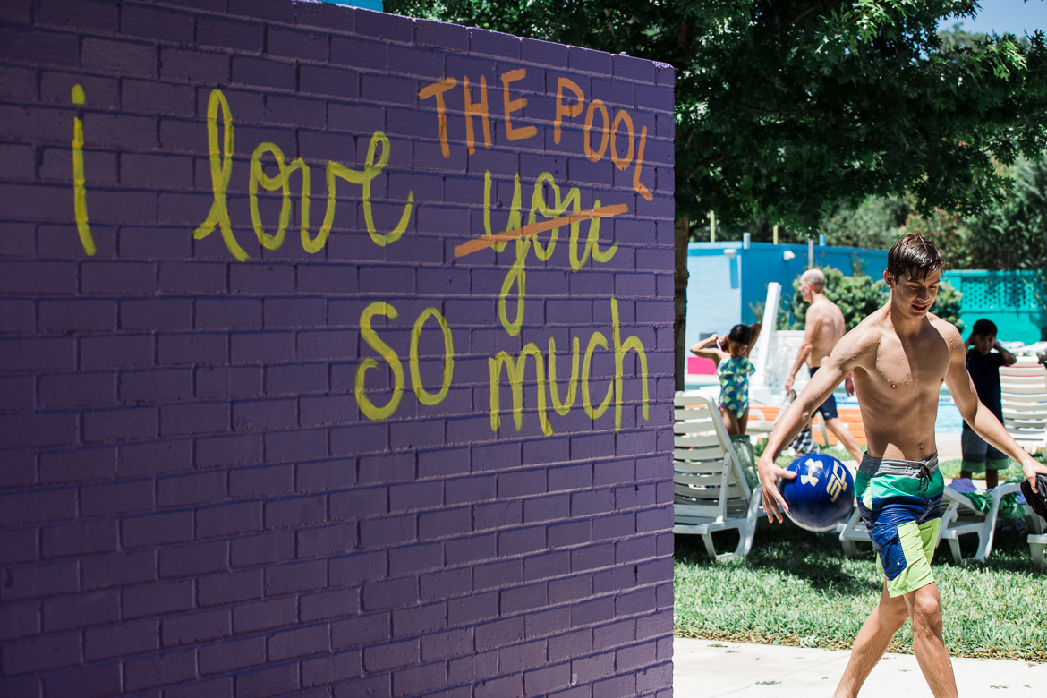 I love the pool so much sign at the Alamo Heights Swimming Pool