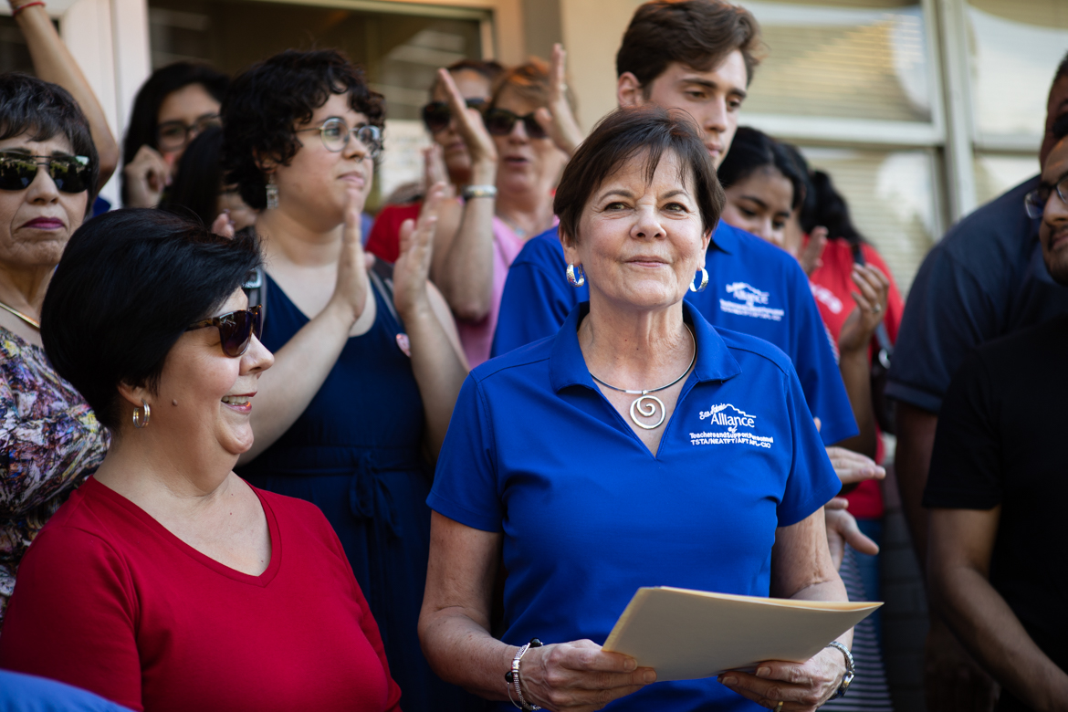 San Antonio Alliance of Teachers and Support Personnel President Shelley Potter