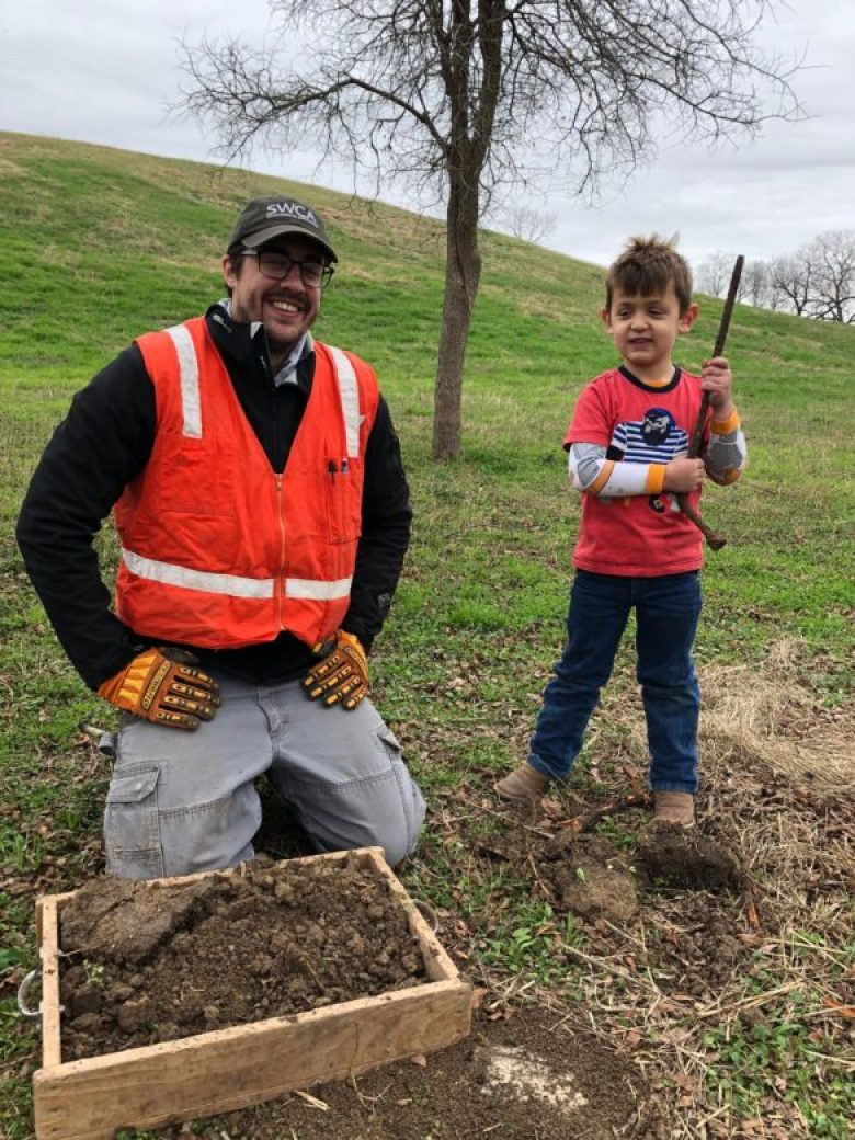 (left) Zack Overfield and Memo Seale Discover a Tire Iron.