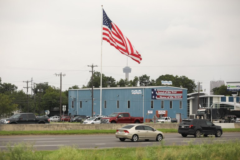 Dixie Flag and Banner Company is located along Interstate 35 North of downtown.