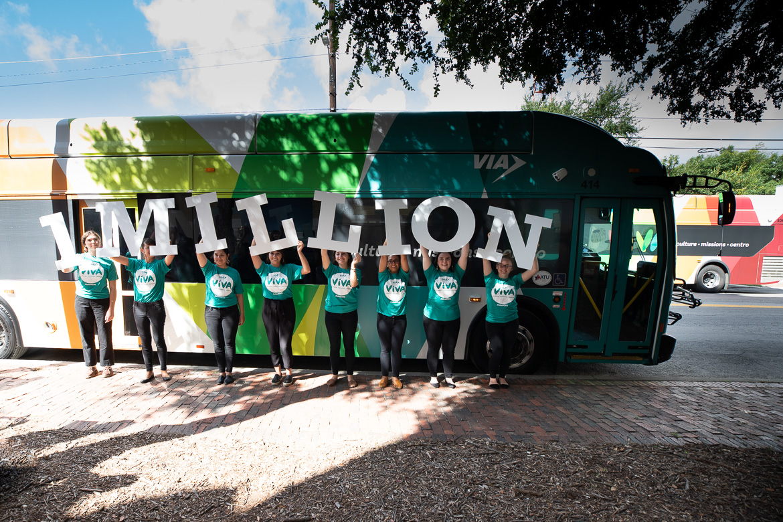 The VIVA bus at the milestone 1 Million Trips celebration on July 2, 2019.