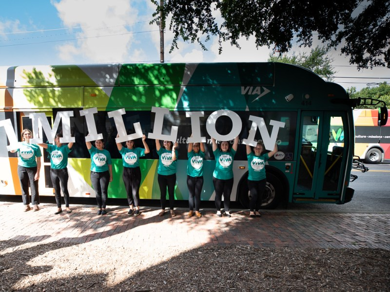 The VIVA bus at the milestone 1 Million Trips celebration on July 2, 2019.