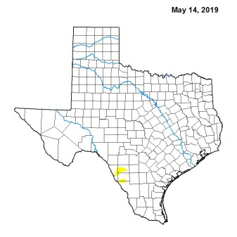 A drought map from May shows that most of Texas was well-watered three months ago.