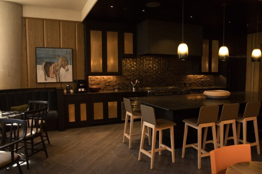 The kitchen in the tenants-only event space
