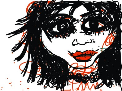 An untitled drawing by Rocío Alvarado Lockwood
