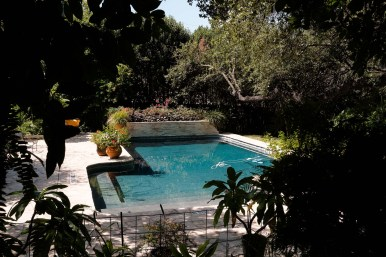 An inviting pool greets all those who visit Chicken Paradise.