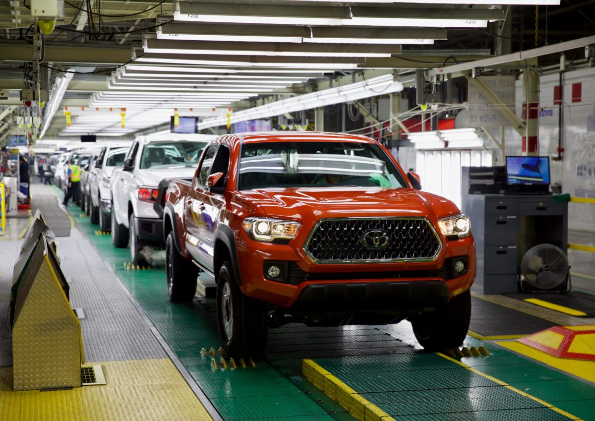 Production at the San Antonio Toyota plant dips amid a supply chain shortage felt globally.