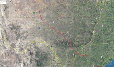 A map obtained by the Rivard Report shows the route of the proposed pipeline.
