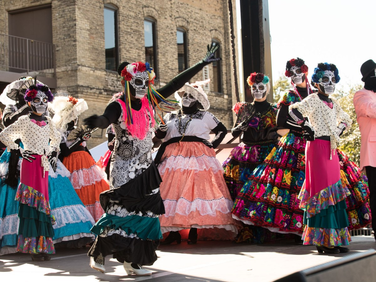 Dancers from the Guadalupe Dance Company perform at the main stage during the Día de los Muertos festival in 2019.