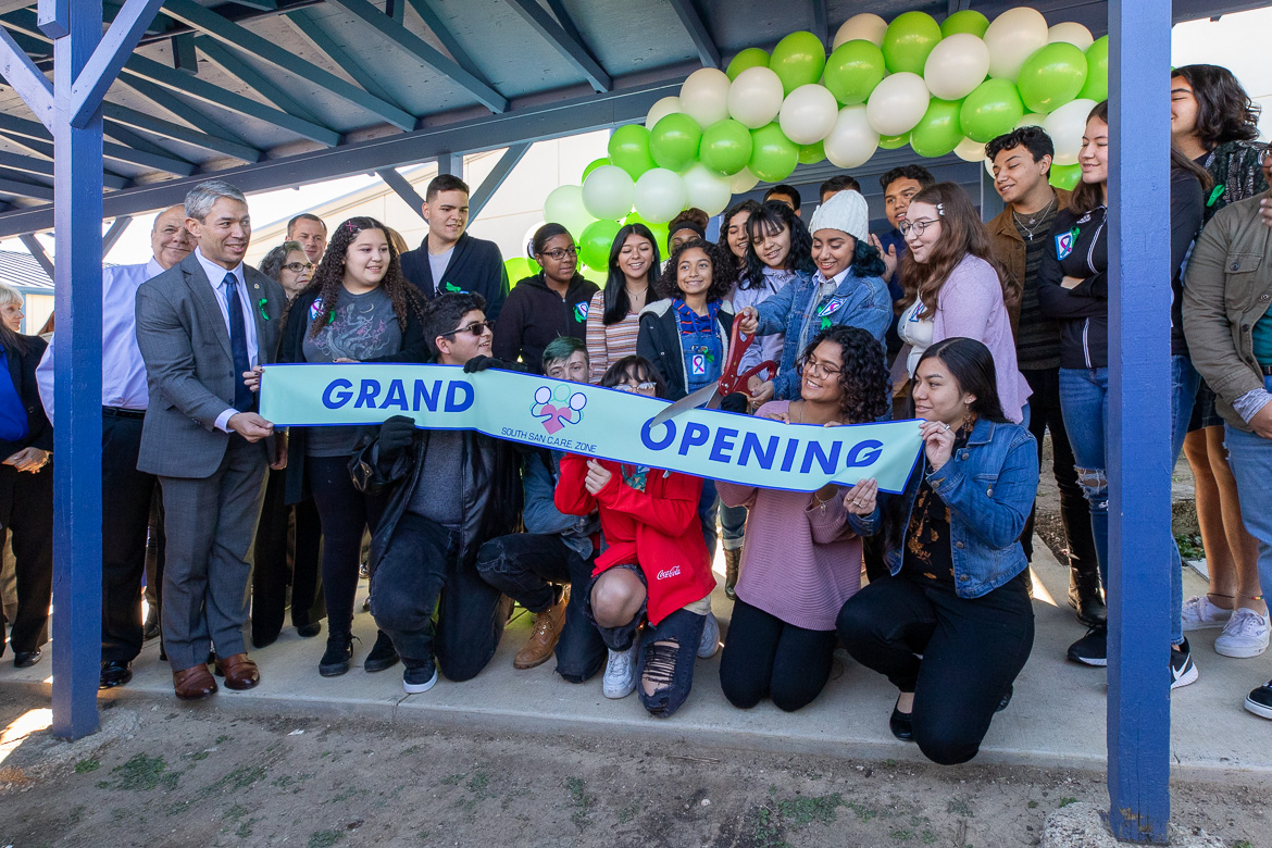The ribbon cutting ceremony for South San ISD's Care Zone Wellness Center took place in 2019.