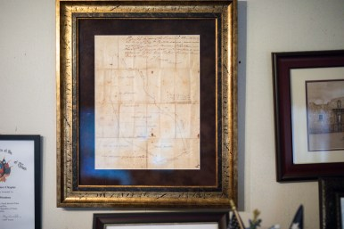 An original map of the plot of land that was split between Josephine's family in the 1800s.