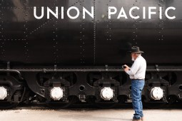 Fred Pomrenke traveled about an hour East of San Antonio to see the steam locomotive up close.