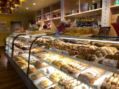 Pan dulce and candies are on display at the Mi Familia de Mi Tierra panaderia.