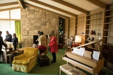 People view items at Flora Cameron Crichton's estate sale.