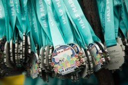 Medals are ready to hand out to Rock 'n' Roll San Antonio half-marathon participants.