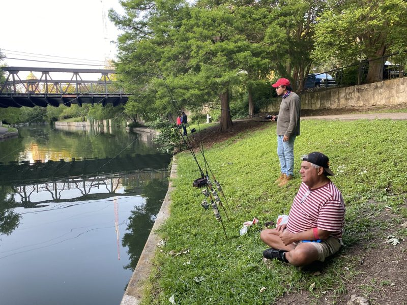 Daniel Ortiz and Alfred Covarrubias fishing