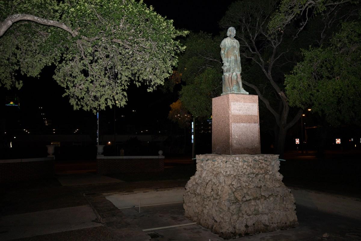 Christopher Columbus statue in Columbus Park.