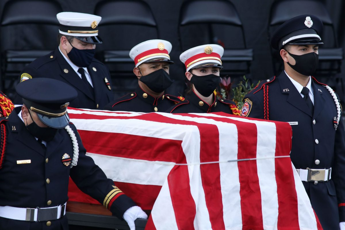 Funeral services for Kyle Coleman, 69, who served as Bexar County's emergency management coordinator, were held in July.