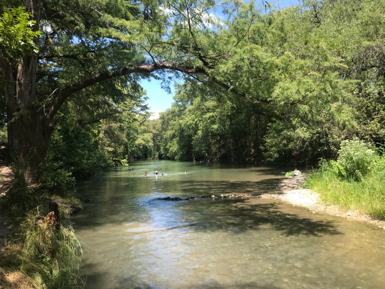 Castroville Regional Park has a series of swimming holes along the Medina River.
