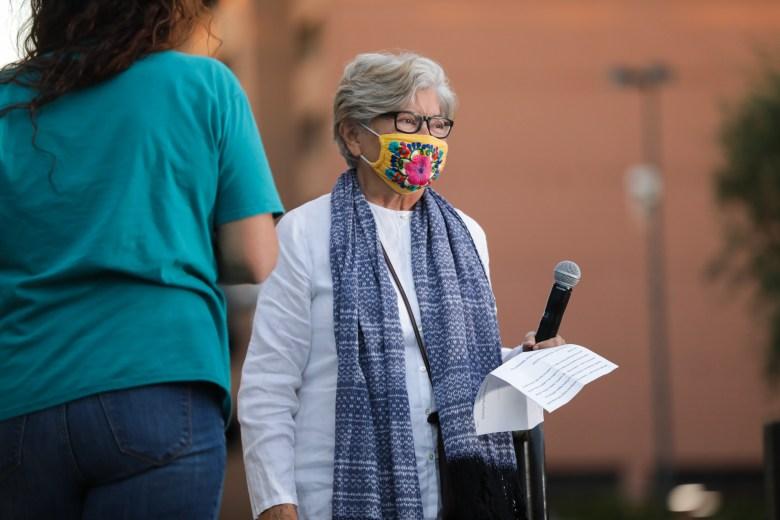 Civil rights activist Rebecca Flores
