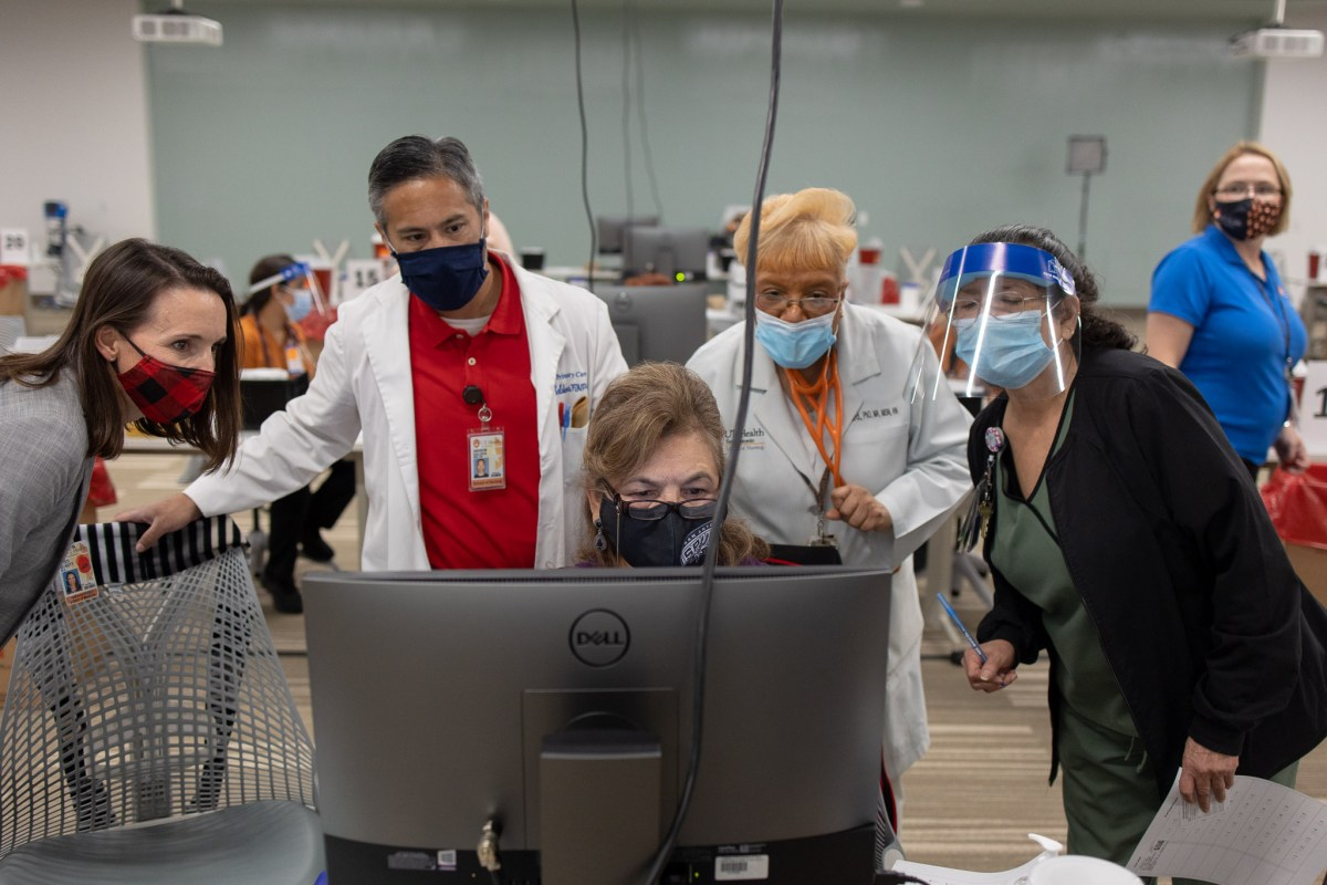 County Judge Nelson Wolff said San Antonio saw its worst day of the holiday season, as coronavirus cases and hospitalizations surged on the same day local health care workers began receiving doses of the COVID-19 vaccine.