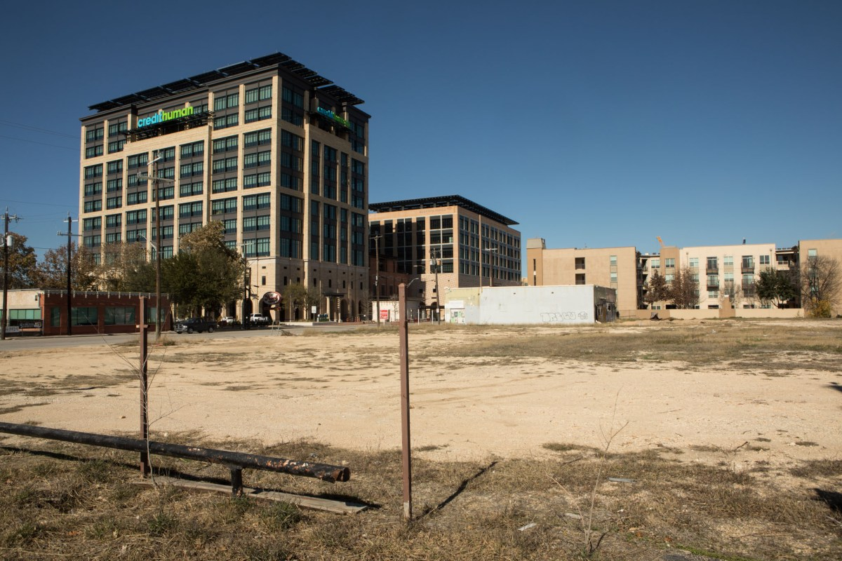 The empty lot at 1706 Broadway St. across from the Pearl.