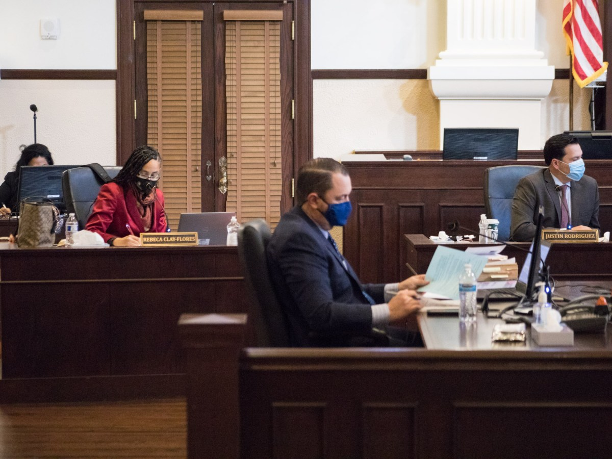 Bexar County Commissioners Court convenes on January 12, 2021, with its two new members, Trish DeBerry and Rebeca Clay-Flores.