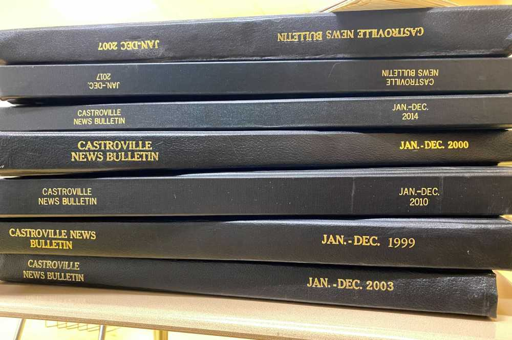 The Medina Valley High School journalism department holds onto bound volumes of the Castroville News Bulletin.