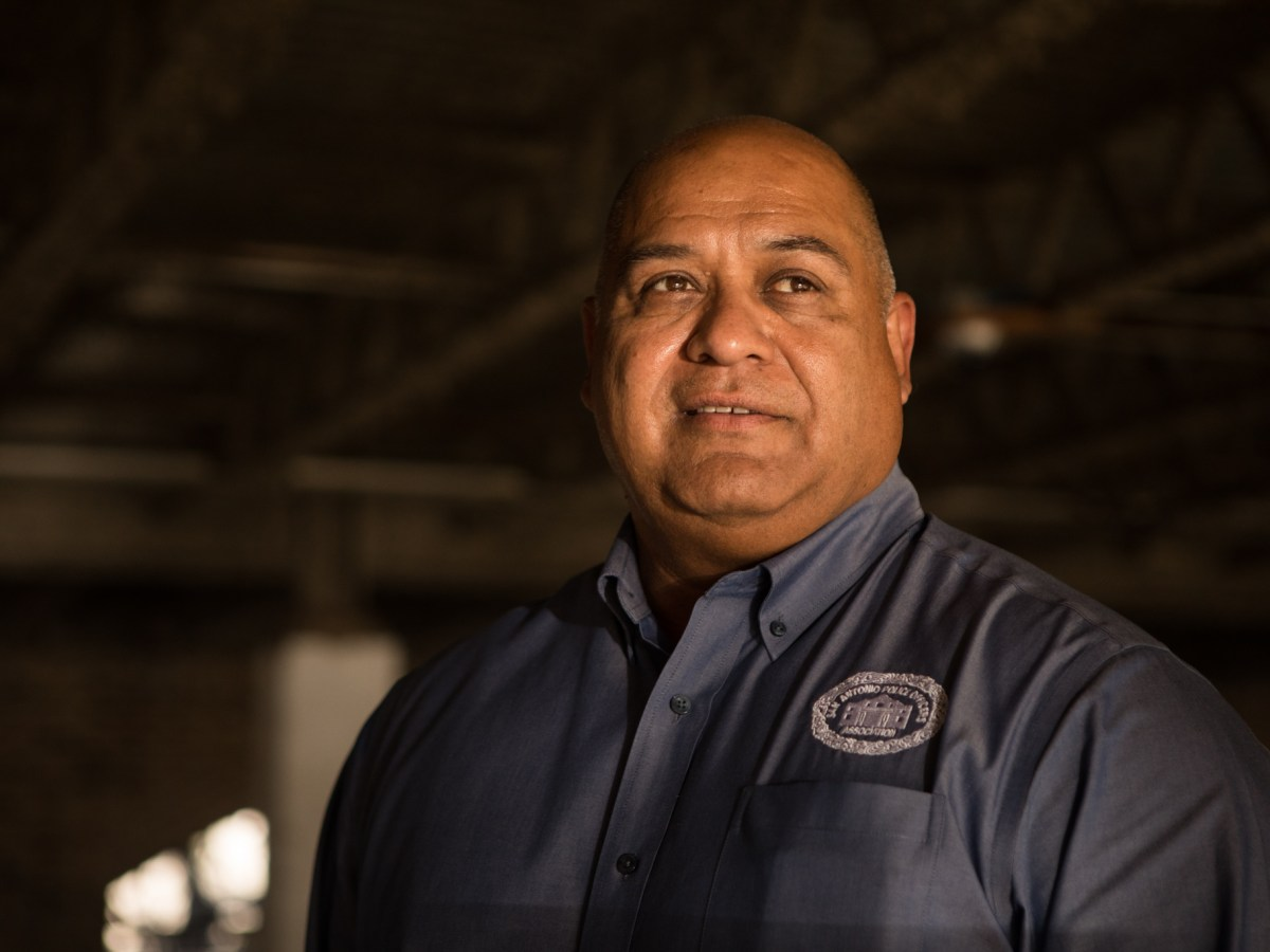 "John ""Danny"" Diaz, president of the San Antonio Police Officers Association. Photos taken at SAPOA headquarters on February 3, 2021."