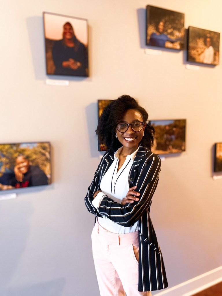The Black Herstory project by photographer and radio journalist Bria Woods is on view at The Impact Guild coworking space through March 31.