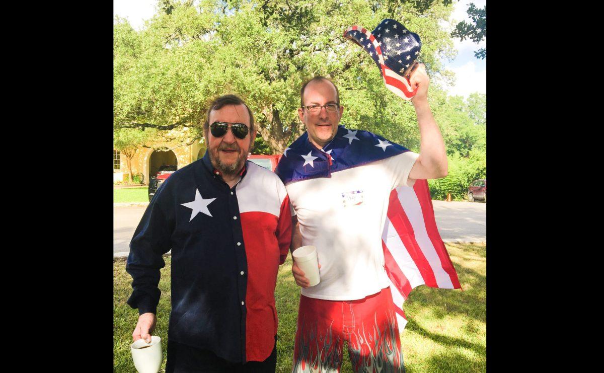 Curtis Gunn (left) with his son Trey Gunn.