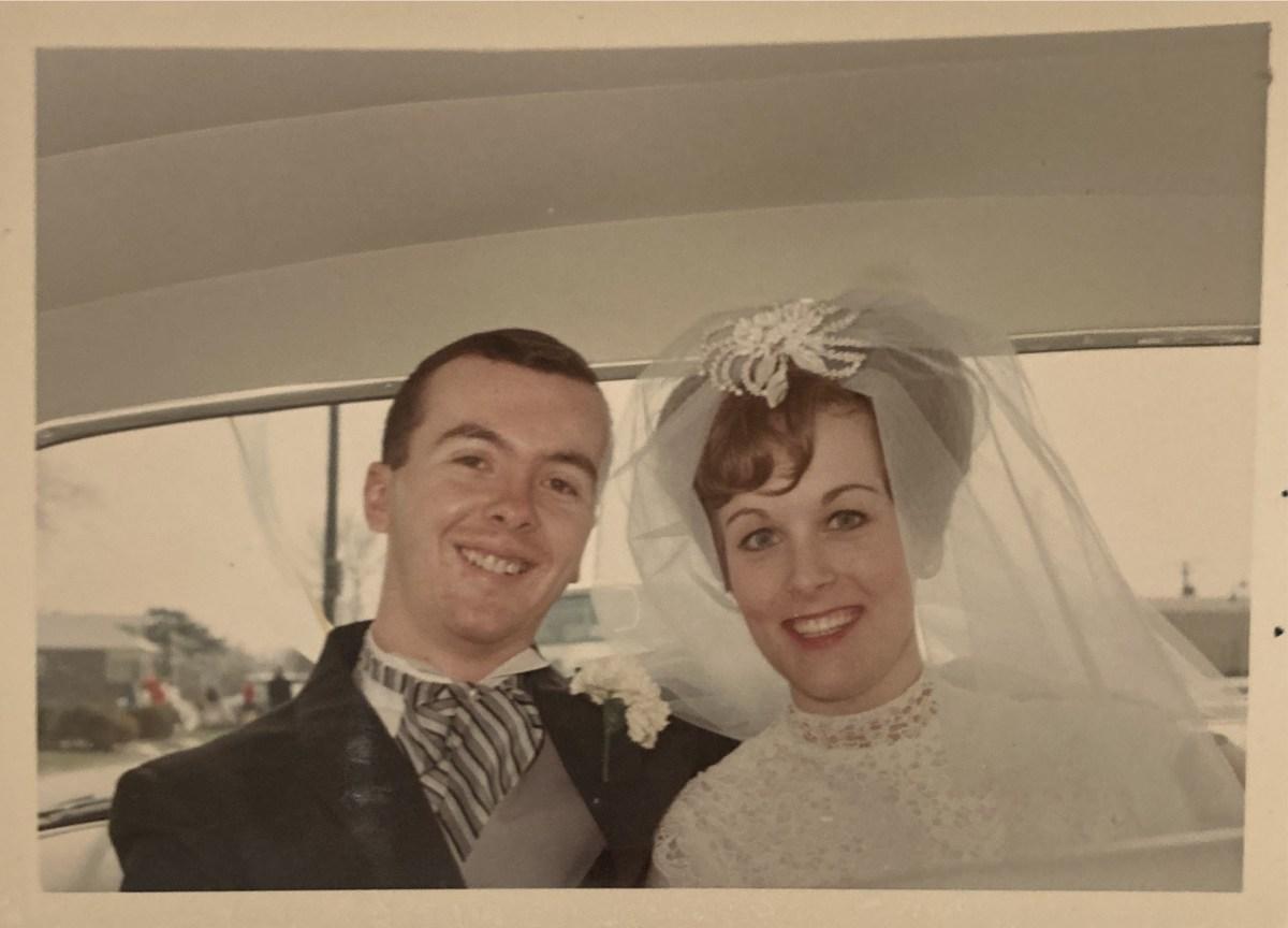 Robert and Karen Autenrieth on their wedding day on April 16, 1966.