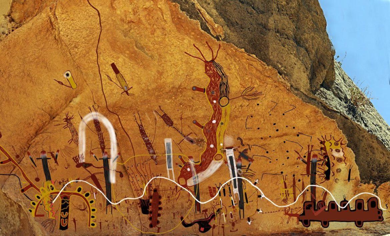 Una representación digital del White Shaman Mural da vida a una historia de creación de hace 4,000 años, gracias a Carolyn Boyd, fundadora de Shumla, y sus colegas.