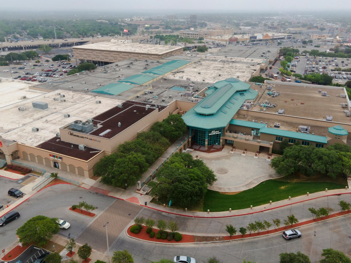 The Wonderland of Americas shopping center is seen on Thursday. The shopping mall, one of the oldest in the city, has become a site for COVID-19 vaccinations, conference rooms and doctors offices.