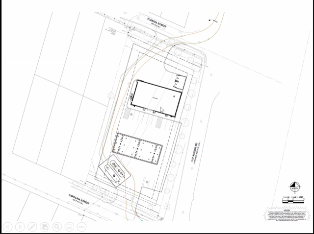 The layout of the proposed 7-Eleven.