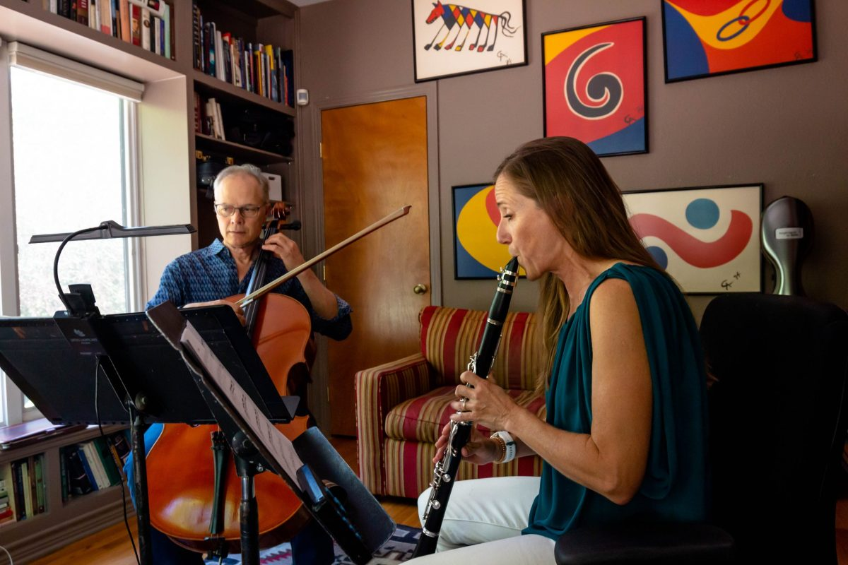 Cellist David Mollenauer is currently the Assistant Principal Cello of the San Antonio Symphony and founding member of the SOLI Chamber Ensemble with his wife, Stephanie Key. She is currently the Associate Principal/Second Clarinet for the San Antonio Symphony.