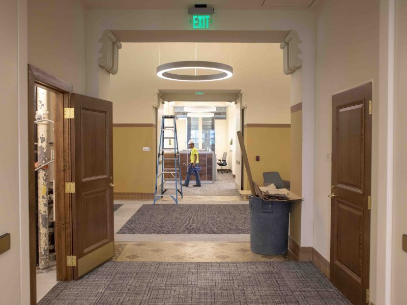 A three-year renovation of the historic City Hall has been completed. The renovation includes larger meeting spaces, accessibility upgrades, and security enhancements.